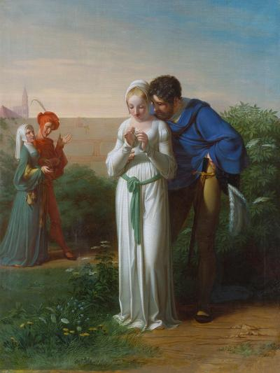 Faust with Gretchen-Gustav Heinrich Naeke-Giclee Print