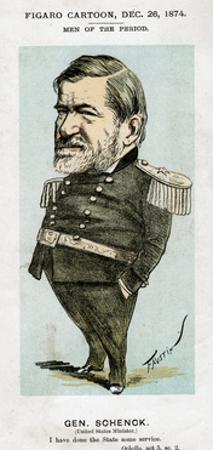 Robert C Schenck, Us Army General and Diplomat, 1874 by Faustin