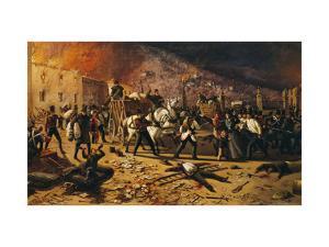 Ten Days of Brescia, Defense of Port Torrelunga in 1849 by Faustino Joli