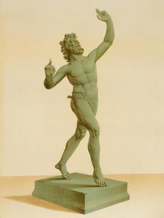 Reproduction of a Bronze Statue of a Faun, from the Houses and Monuments of Pompeii