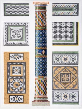 Reproduction of a Column and Floor Mosaics