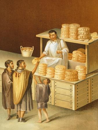 Reproduction of a Fresco Depicting a Baker, from the Houses and Monuments of Pompeii
