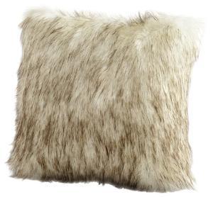 Faux Prairie Wolf Pillow