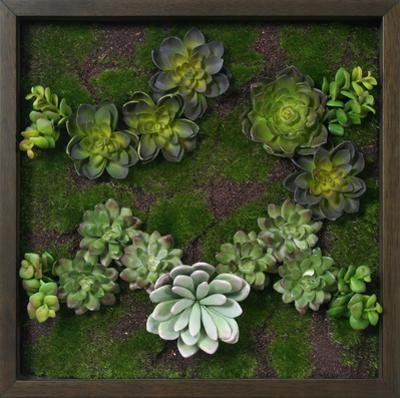 Faux Succulent Mini Garden I