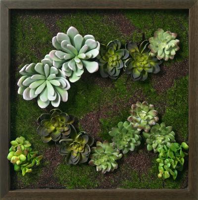 Faux Succulent Mini Garden II--Dimensional Product
