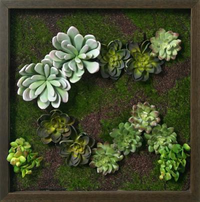 Faux Succulent Mini Garden II