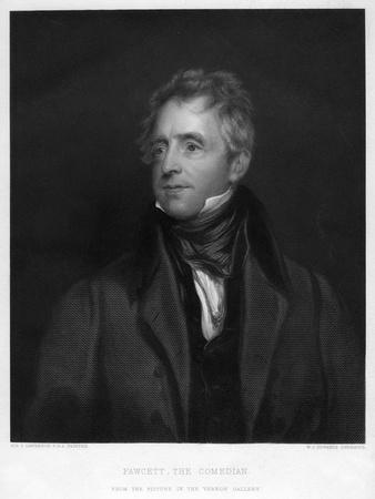 Fawcett, the Comedian, 1828 Giclee Print - WJ Edwards