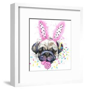 Cute Dog. Dog T-Shirt Graphics. Watercolor Dog Illustration Background. Watercolor Funny Dog for Fa by Fayankova Alena