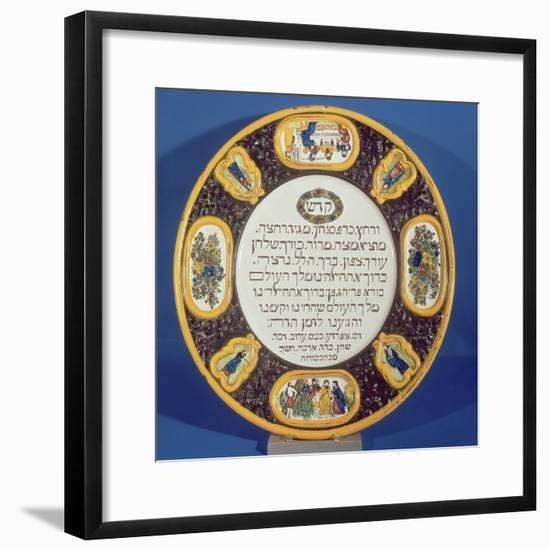 Fayeme Passover Dish, Made by Isaac Cohen of Pesaro, Probably Italian, C.1613-14--Framed Giclee Print