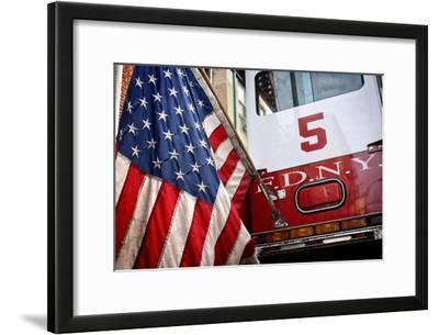 FDNY Truck with American Flag
