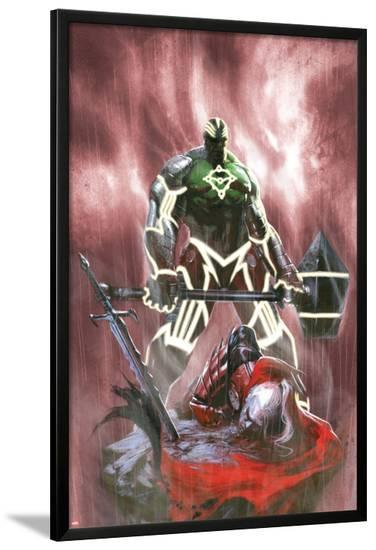 Fear Itself: Hulk vs. Dracula No.3 Cover: Hulk Standing Over a Fallen Dracula-Gabriele DellOtto-Lamina Framed Poster
