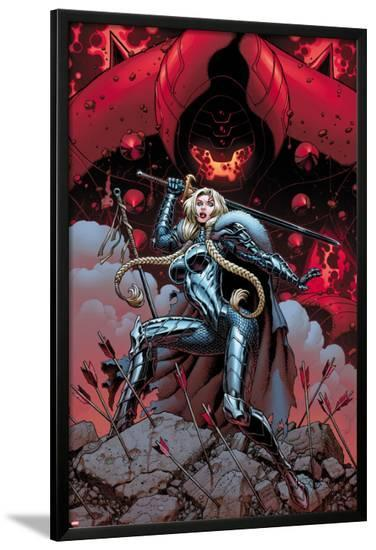 Fear Itself: The Fearless No.12 Cover: Valkyrie-Mark Bagley-Lamina Framed Poster