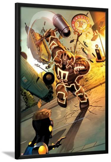 Fear Itself: The Home Front No.3: Juggernaut Charging and Smashing-Mike Mayhew-Lamina Framed Poster