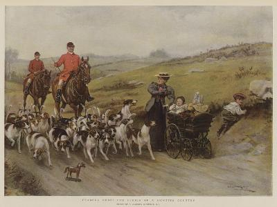 Fearful Odds! the Perils of a Hunting Country-George Goodwin Kilburne-Giclee Print