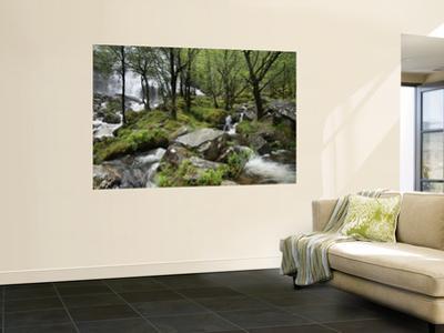 An Steall Waterfall That Cascading Down the Face of an Gearanach Above Glen Nevis