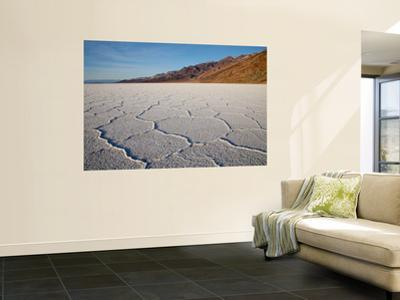 Polygonal Salt Formations at Badwater Basin, on Floor of Death Valley