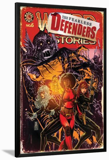 Fearless Defenders #6 Cover: Misty Knight, Black Widow, Black Cat-Mark Brooks-Lamina Framed Poster