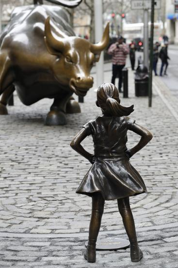 Fearless Girl Wall Street--Premium Photographic Print