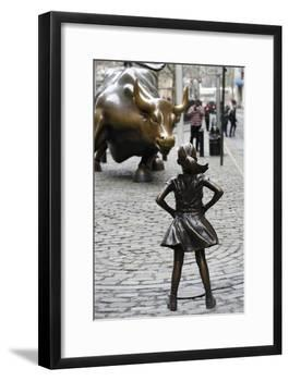 Fearless Girl Wall Street-null-Framed Photographic Print