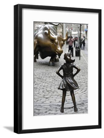 Fearless Girl Wall Street--Framed Photographic Print