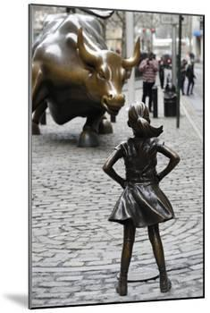Fearless Girl Wall Street-null-Mounted Photographic Print