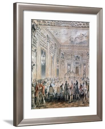 Feast at Louveciennes, 1771-Jean-Michel Moreau-Framed Giclee Print