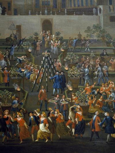 Feast for Return of Mozzatore in Garden of Palazzo Rospigliosi at Esquiline--Giclee Print