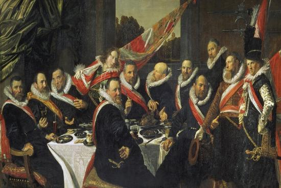 Feast for the Officers of the St. George Guards in Harlem, 1616-Frans Hals-Giclee Print