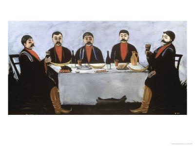 Feast of Five Princes, c.1906-Niko Pirosmanashvili-Giclee Print