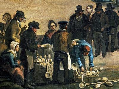 Feast of St Michael, Detail of Wooden Spoon Seller, 1840, Painting by Carlo Ferrari (1813-1871)--Giclee Print