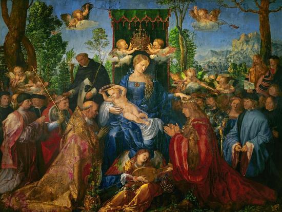 Feast of the Rose Garland, 1506-Albrecht D?rer-Giclee Print
