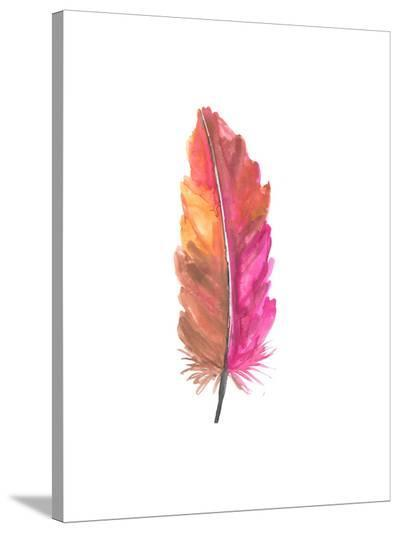 Feather 5-Jetty Printables-Stretched Canvas Print
