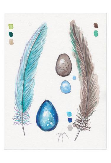 Feather and Egg Study 2-Beverly Dyer-Art Print