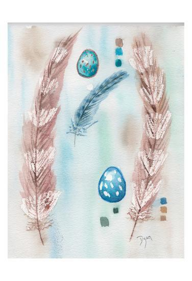 Feather and Egg Study-Beverly Dyer-Art Print