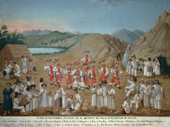 Feather Dance of Villa Alta Indios--Giclee Print