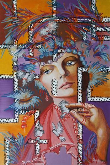 Feather Hat, 2015--Giclee Print