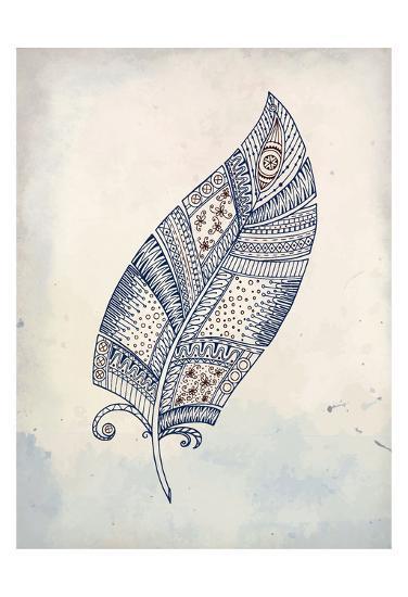 Feather Henna 2-Kimberly Allen-Art Print