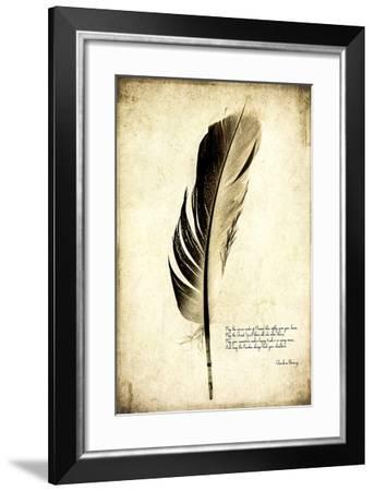 Feather on the Wind III-Honey Malek-Framed Giclee Print