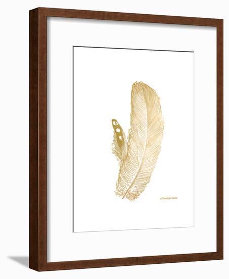 Feather on White I-Gwendolyn Babbitt-Framed Art Print