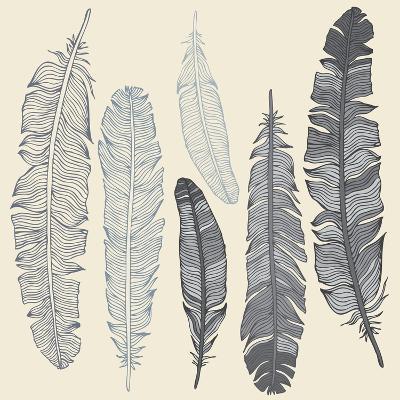 Feather Set-Katyau-Art Print
