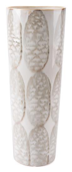 Feather Tall Vase Ivory & Sage Green--Home Accessories