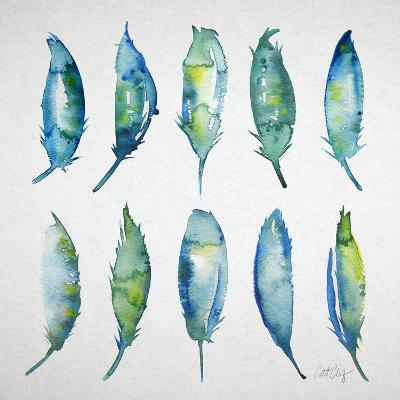 Feather Watercolor-Cat Coquillette-Giclee Print