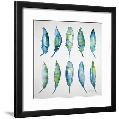 Feather Watercolor-Cat Coquillette-Framed Giclee Print