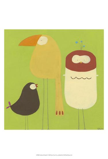 Feathered Friends I-Erica J^ Vess-Art Print