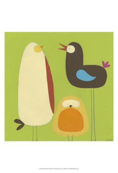 Feathered Friends II-Erica J^ Vess-Art Print
