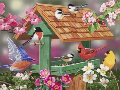 Feathers and Flowers-William Vanderdasson-Giclee Print