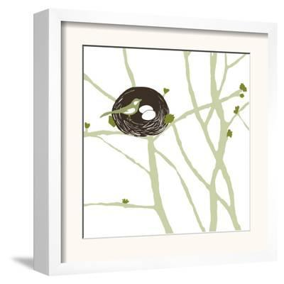 Feathers and Twigs-Erin Clark-Framed Art Print