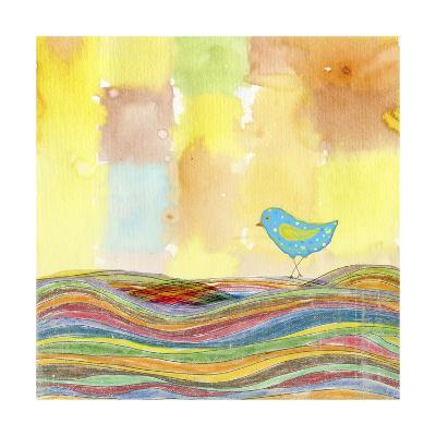 Feathers, Dots & Stripes IX-Ingrid Blixt-Art Print