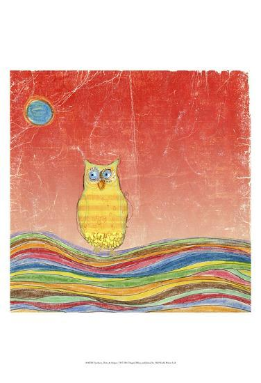 Feathers, Dots & Stripes VI-Ingrid Blixt-Art Print