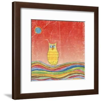 Feathers, Dots & Stripes VI-Ingrid Blixt-Framed Art Print